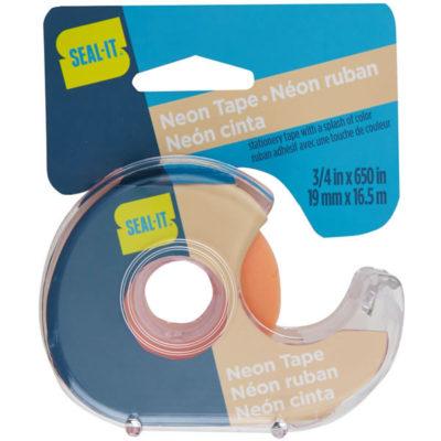 Neon Orange Stationery Tape. 3/4in x 650in