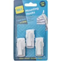 Small Mounting Hooks - 3pk