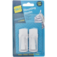 Medium Mounting Hooks - 2pk